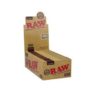 RAW Classic Single Wide Double Window, 25 Hefte je 100 Blatt