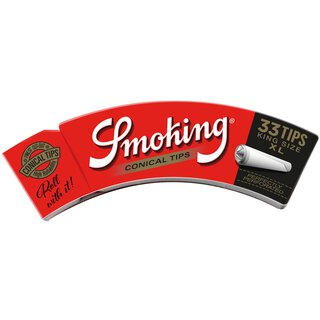 Smoking Filter Tips Conical RED King Size XL 50 Hefte je 33 Filter