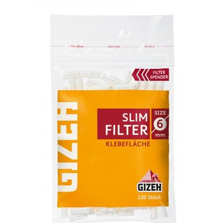 Gizeh Slim Filter mit Gummierung 120 Filter 1 Heft